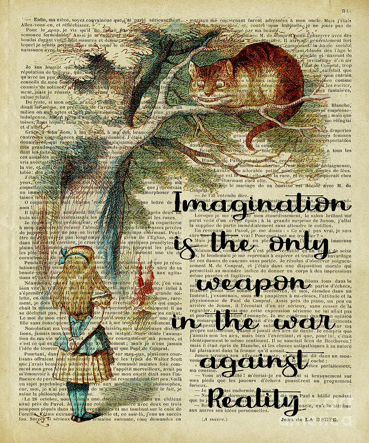 Alice In Wonderland Quote Imagination Digital Art By Trindira A