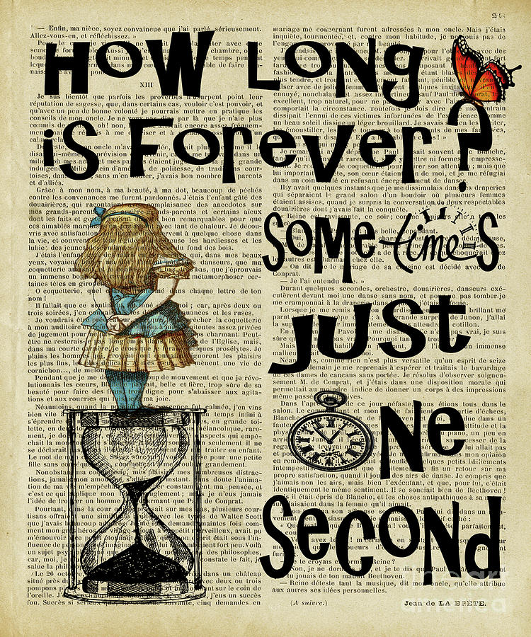 Alice In Wonderland Quote Time Digital Art By Trindira A