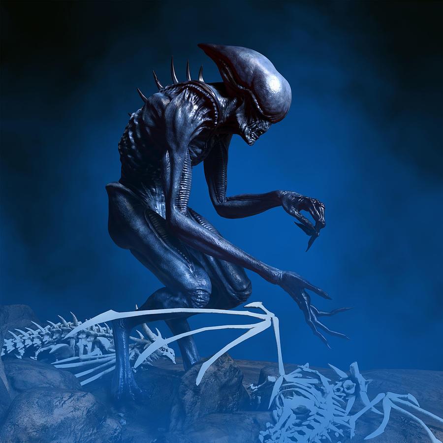 Alien Planet 5 Digital Art