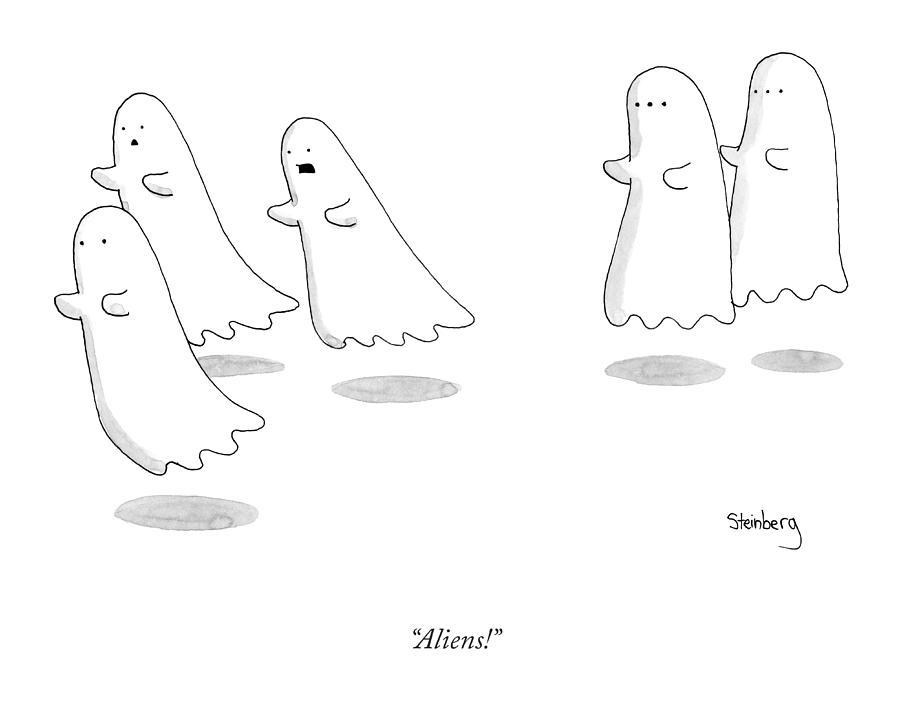 Aliens Drawing by Avi Steinberg