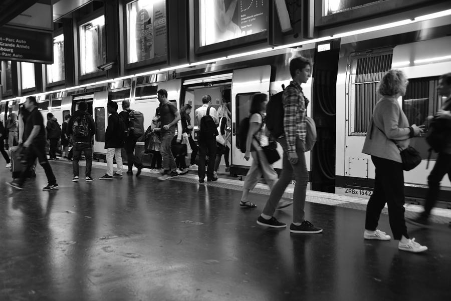 All Change On The Paris Metro Photograph