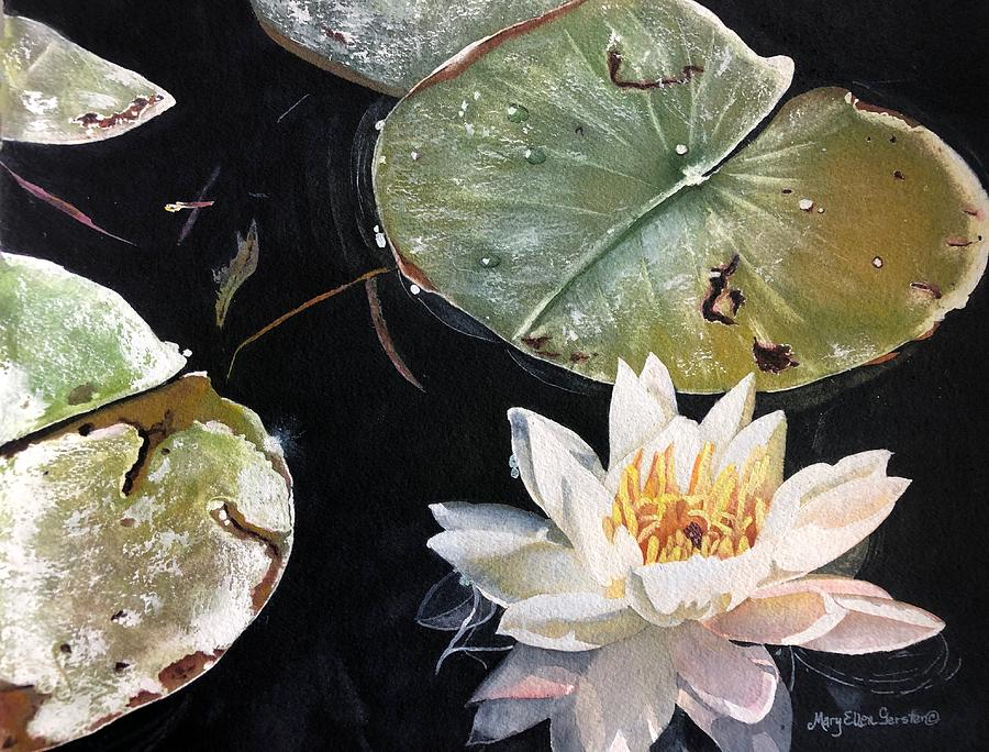 Lakes Painting - All Is Calm by Mary Ellen Gerster