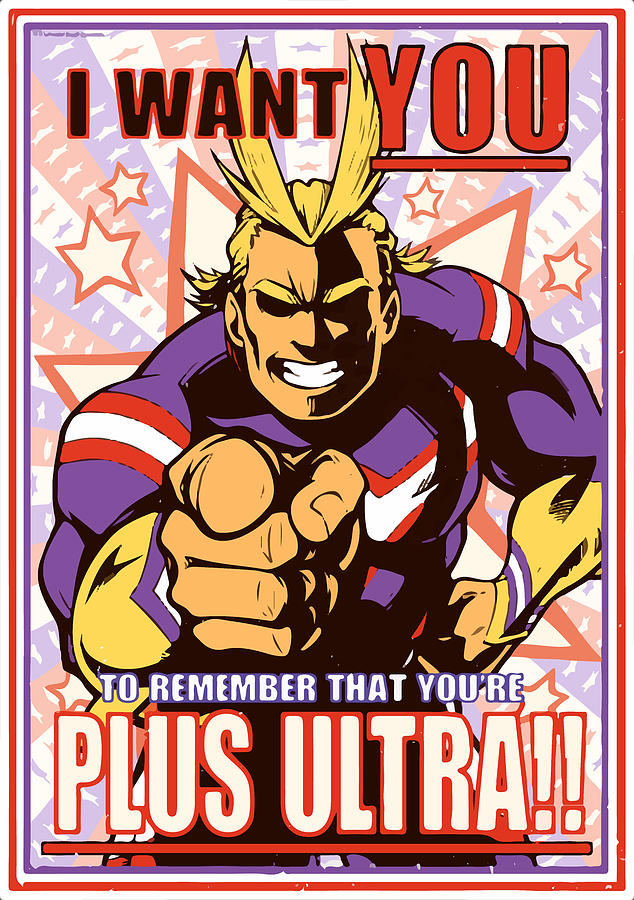 All might My hero Boku no Hero Academia Plus Ultra Poster ...