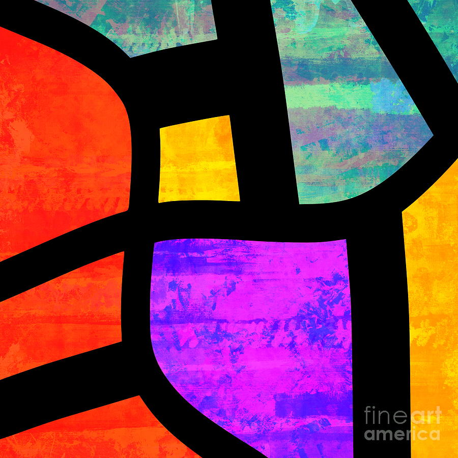 Abstract Expressionism Digital Art - All the Right Angles - Abstract Expressionism Art by Itaya Lightbourne