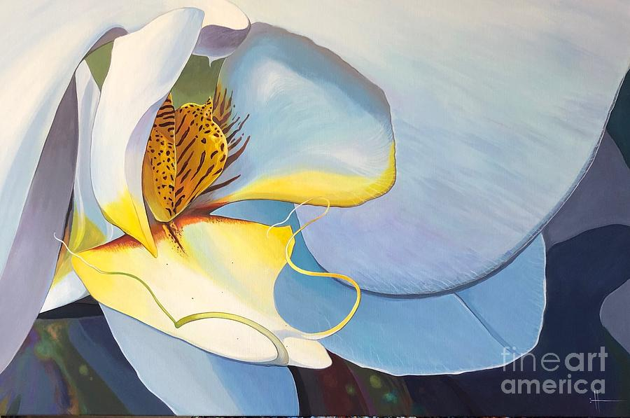 Orchid Painting - All You Need is Now by Hunter Jay
