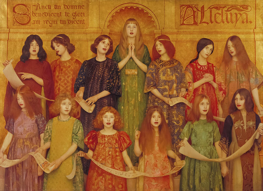Thomas Cooper Gotch Painting - Alleluia, 1896 by Thomas Cooper Gotch