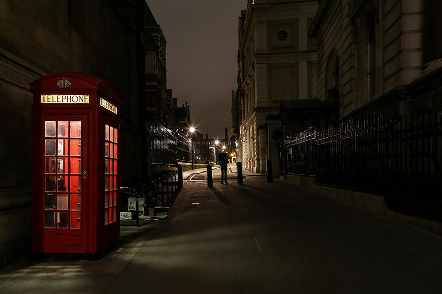 Alley By Telephone Booth Amidst Buildings At Night Photograph by Alessandro Miccoli / EyeEm