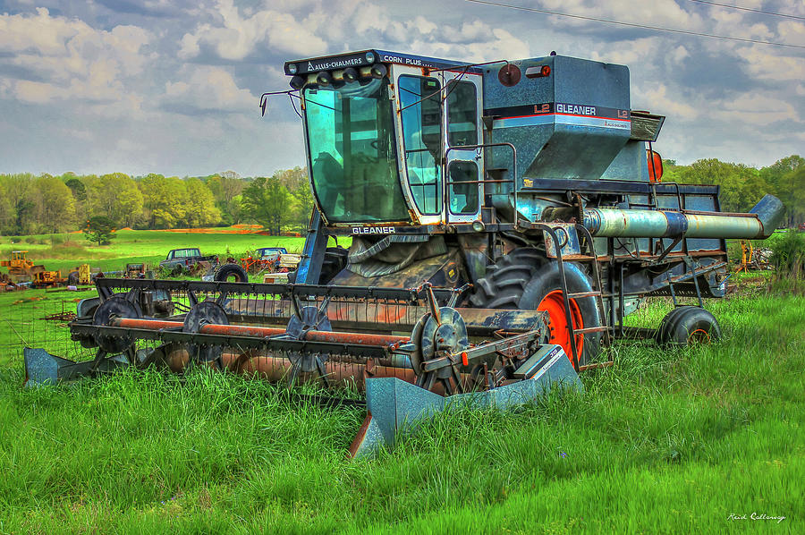 Old Farm Equipment Photograph - Allis-Chalmer Corn Plus Out To Pasture Agricultural Farming Art by Reid Callaway