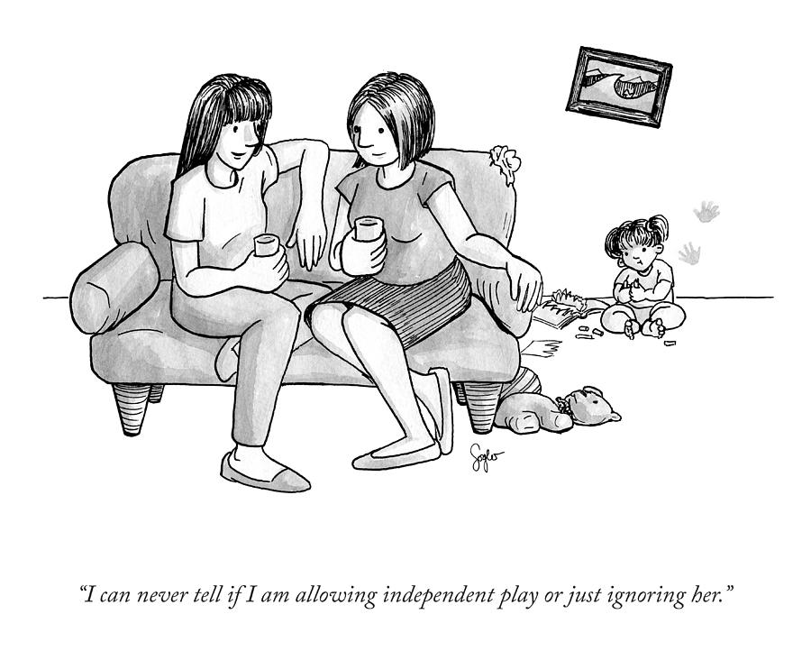 Allowing Independent Play Drawing by Sophia Wiedeman