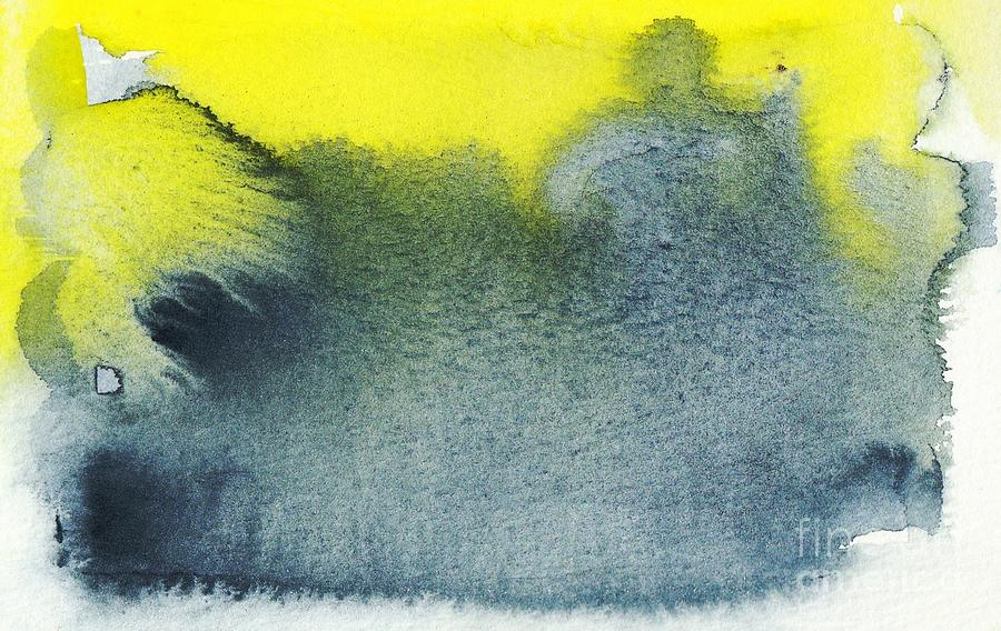 Allowing Indigo And Yellow Minimalism Painting
