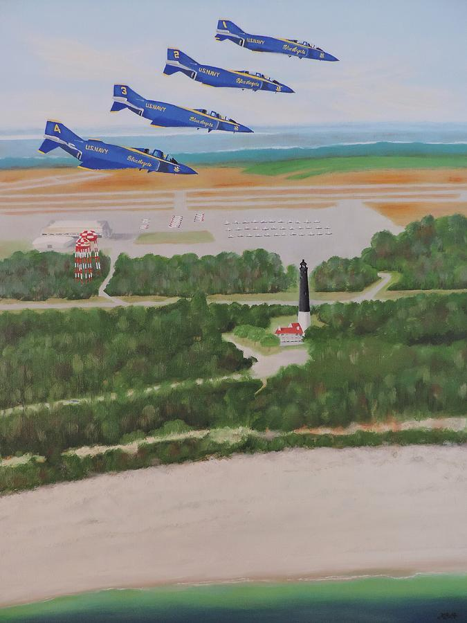 Blue Angels Painting - Almost Home by Margaret Bobb