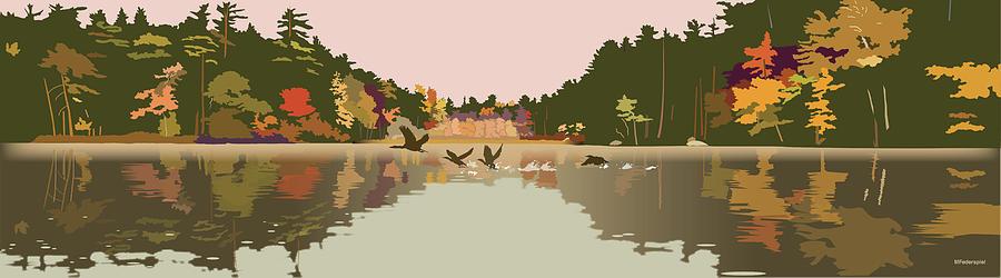 Water Digital Art - Aloft by Marian Federspiel