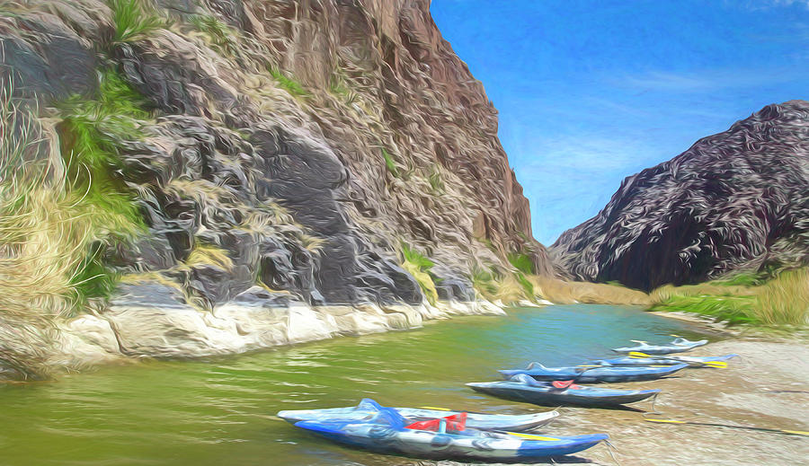 Rio Grande River Photograph - Along The Rio Grande by Jim Cook