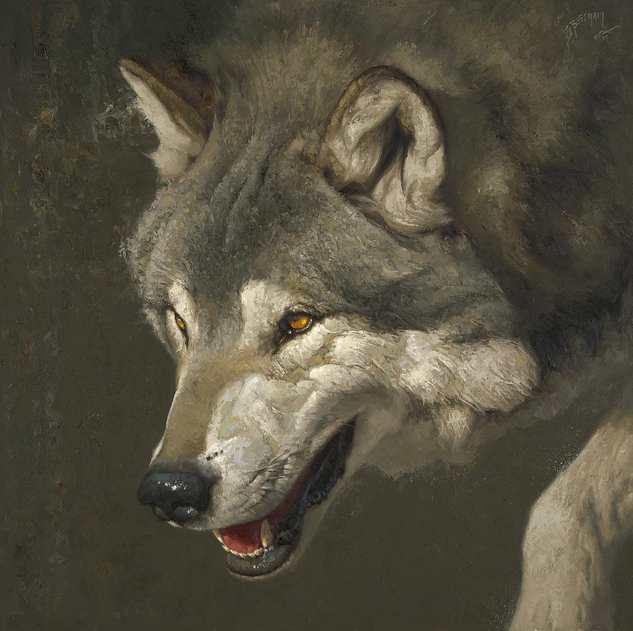 Wolf Painting - Alpha by Greg Beecham