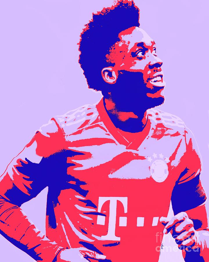 Davies Painting - Alphonso Davies by Jack Bunds