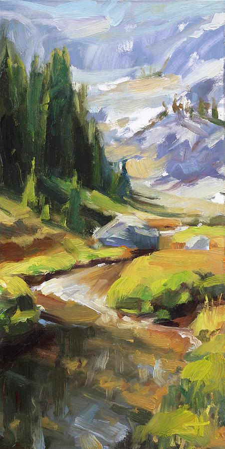 Alpine Stream Painting