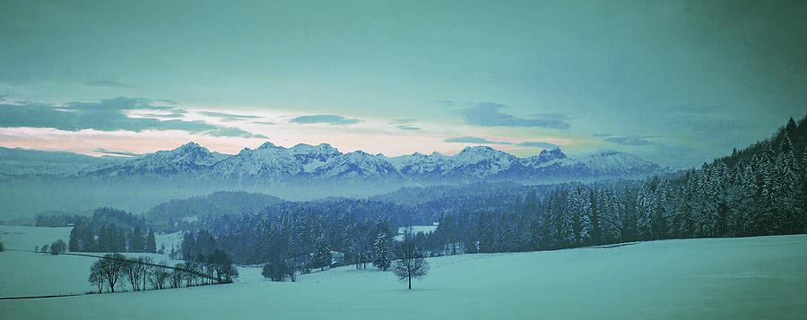 Alpine Valley - Surreal Art By Ahmet Asar Digital Art