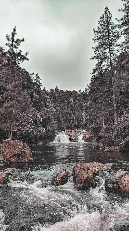 Alpine Waterfall 9 - Surreal Art By Ahmet Asar Digital Art