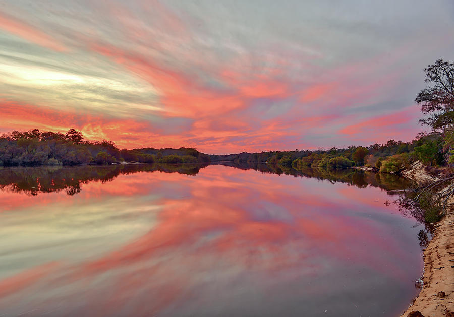 Altamaha Fall sunset by Kenny Nobles