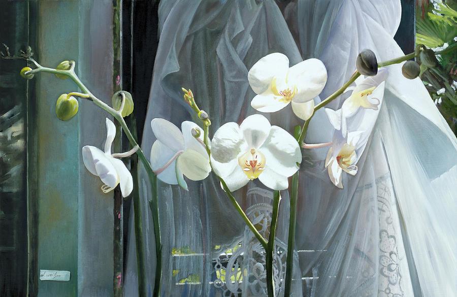 Altre Quattro Orchidee Painting