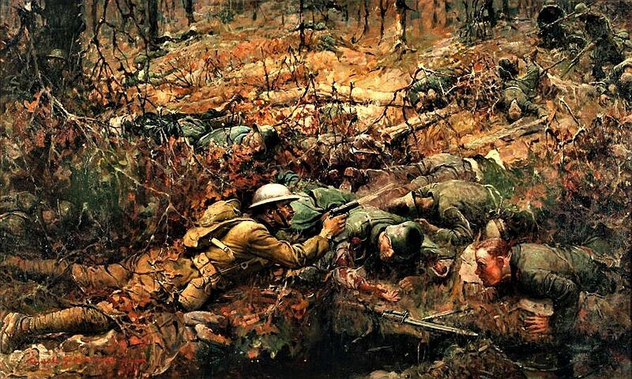 Alvin C. York 1918 Painting