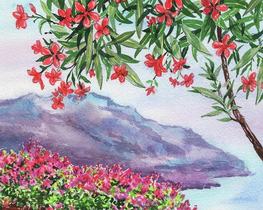 Amalfi Coast View From Ravello Hills  by Irina Sztukowski