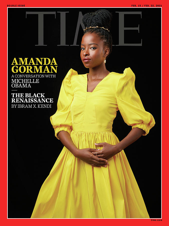 Michelle Obama Photograph - Amanda Gorman - The Black Renaissance by Photograph by Awol Erizku for TIME