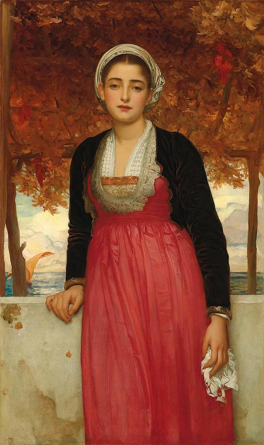 Young Woman Painting - Amarilla by Frederic Leighton