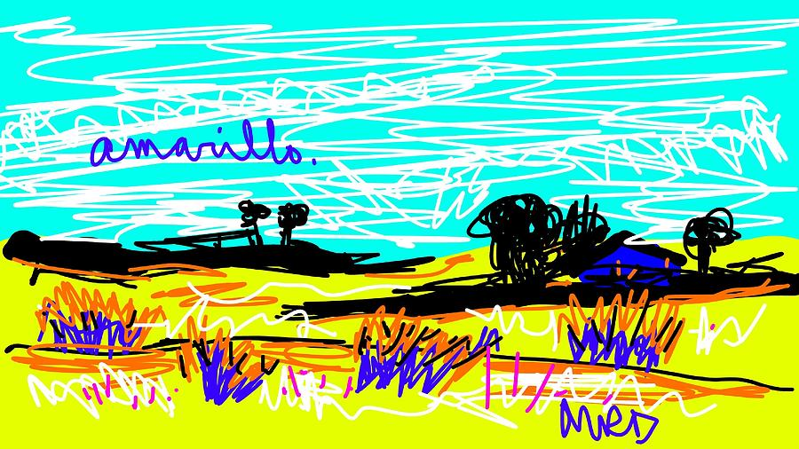 Amarillo is Yellow Digital Art by Madeline Dillner