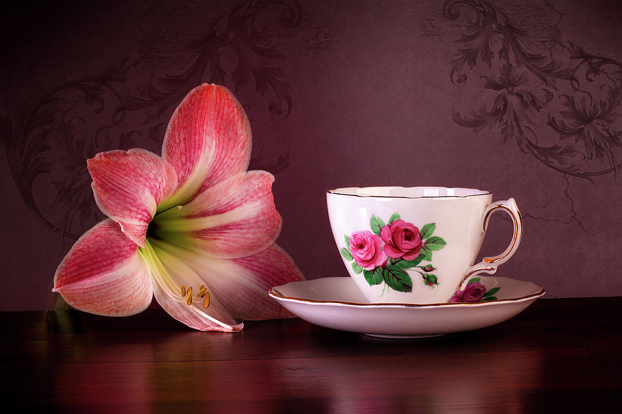 Amaryllis Photograph - Amaryllis with Tea by Tom Mc Nemar