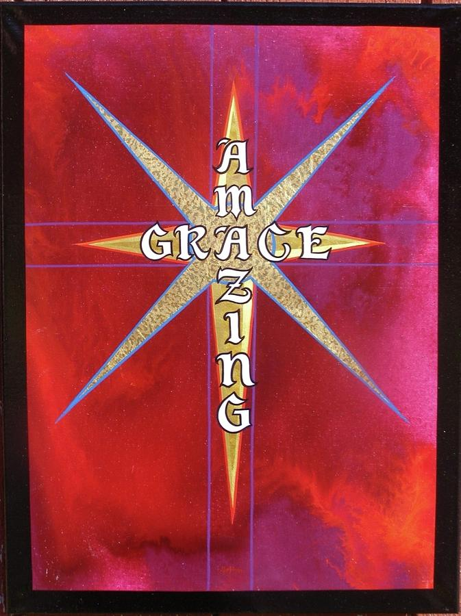 Amazing Grace gold leaf by Alan Johnson