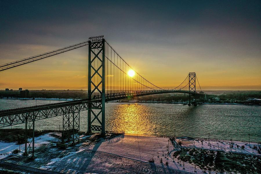 Ambassador Bridge DJI_0756 by Michael Thomas