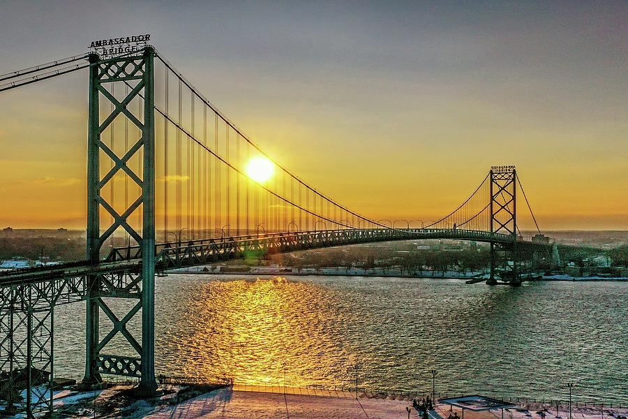 Ambassador Bridge V2 DJI_0756 by Michael Thomas