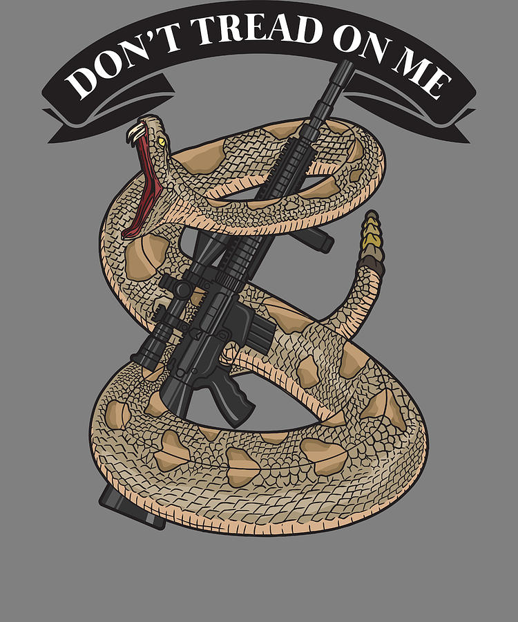 Amerian Pride Merica Patriotic Dont Tread On Me Snake Digital Art By Stacy Mccafferty