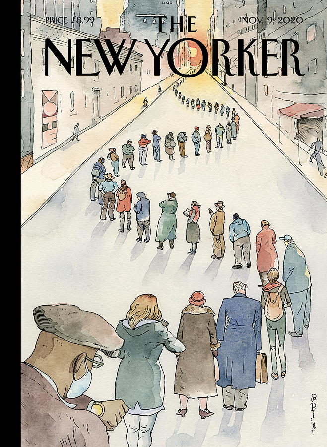 America in Line Painting by Barry Blitt
