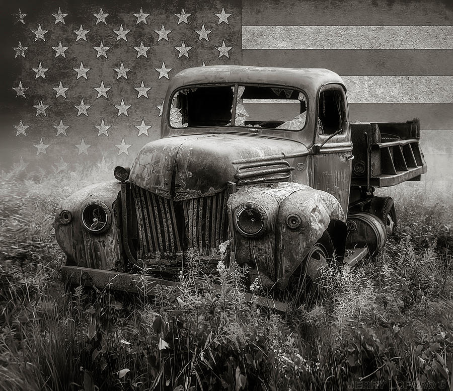 Pickup Truck Photograph - American Beauty 3 by Jerry LoFaro