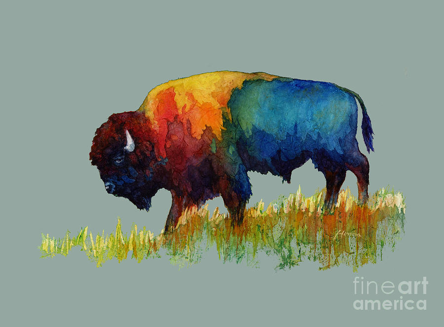 American Buffalo IIi-solid Background Painting