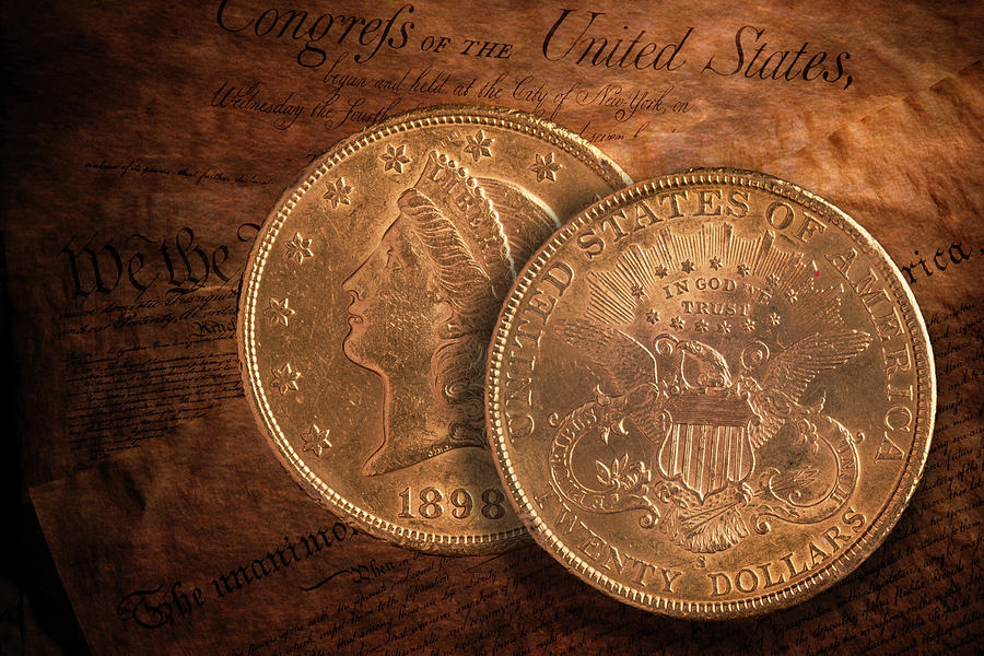 Gold Photograph - American Double Eagle Gold by Tom Mc Nemar