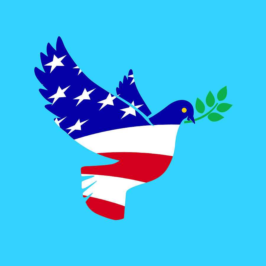 American Dove United In Peace Digital Art