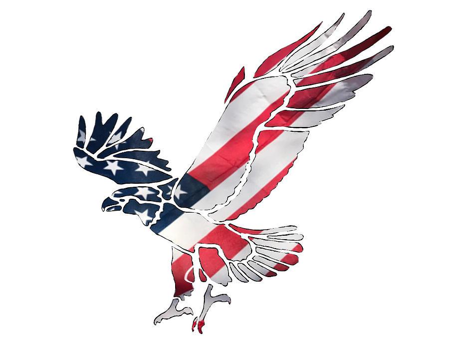 American Eagle Silhouette Mixed Media