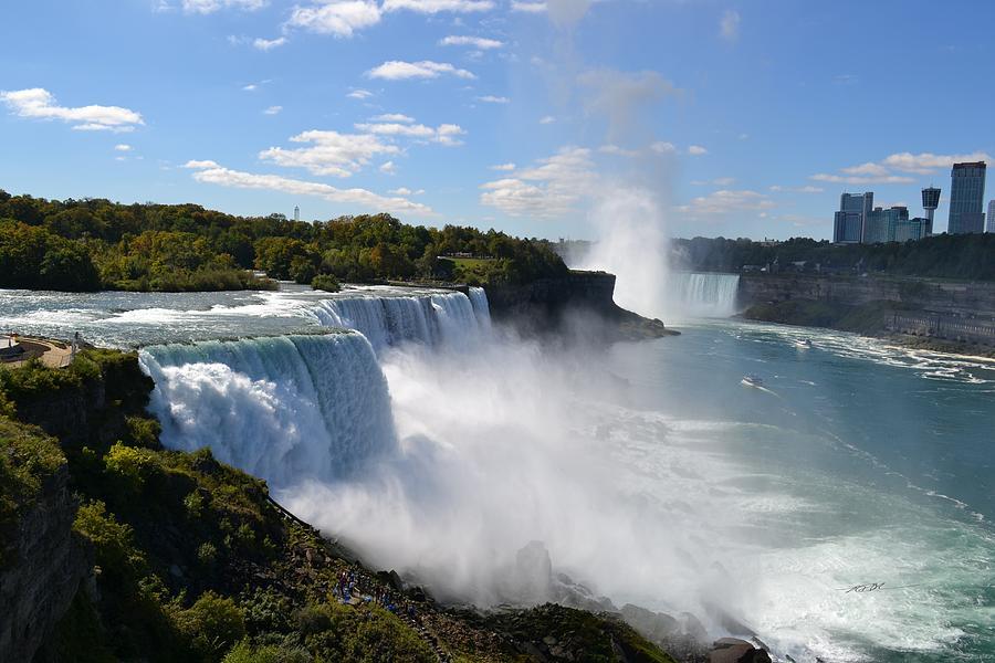 American Falls at Niagara Falls N Y by RD Erickson