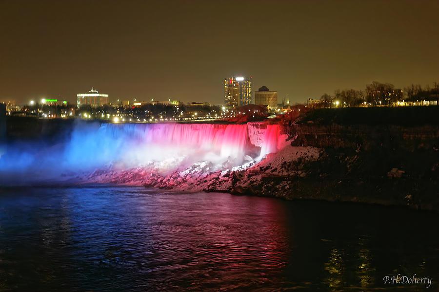 American Falls Lighting Before Kobe Tribute Photograph