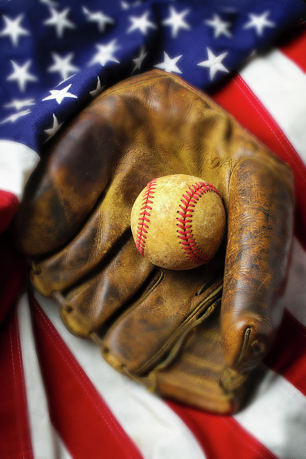 American Flag Baseball by Garry Gay