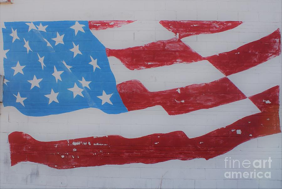 American Flag Mural Photograph