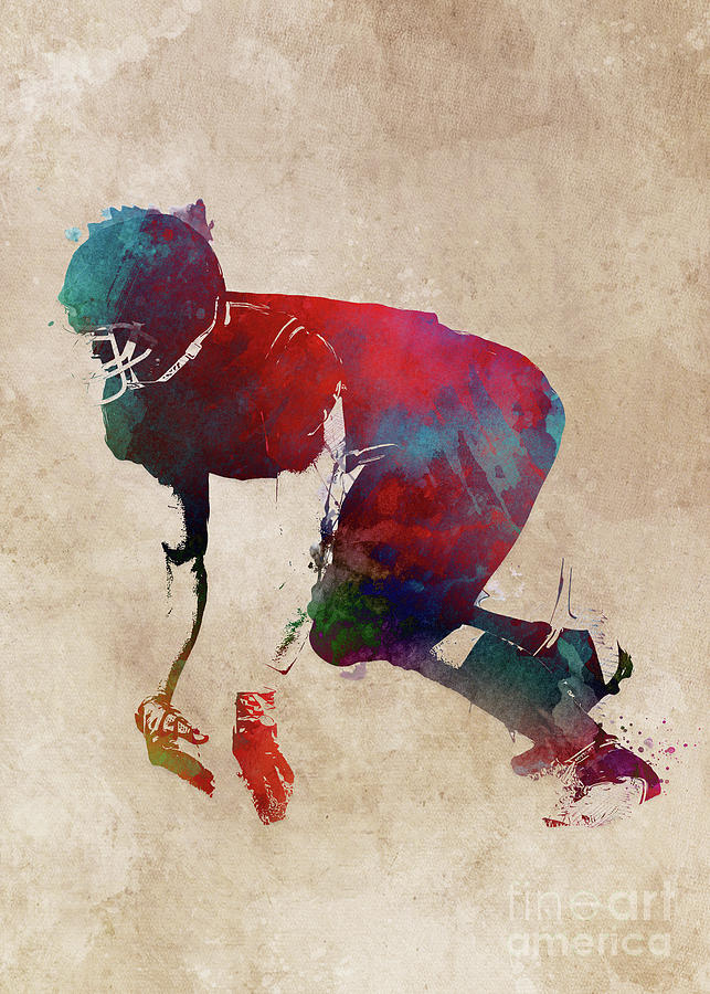 American Football Player #football #sport Digital Art