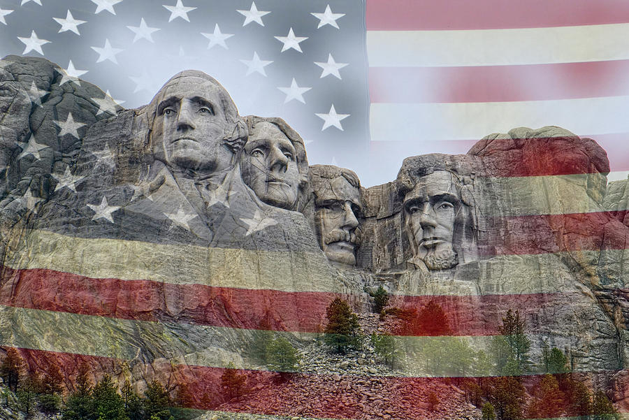 American History - Mount Rushmore National Memorial Digital Art