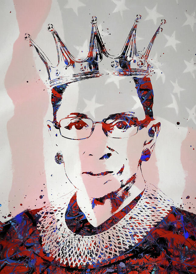 Ginsburg Painting - American Icon RBG by Dan Sproul