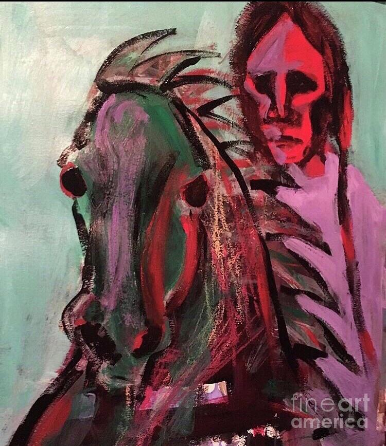 American Indian  Painting by Mark Macko