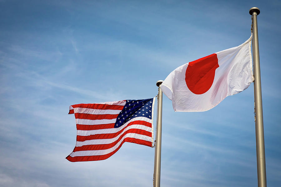 American Japanese Flags 3 by William Chizek