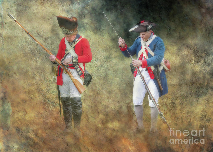 American Soldier Digital Art - American Revolution Soldiers by Randy Steele